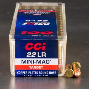 100rds - 22LR CCI Mini-Mag 40gr. Solid Point Ammo