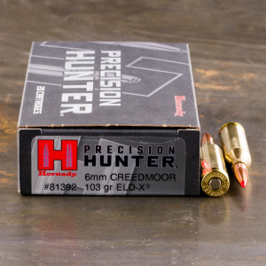 200rds – 6mm Creedmoor Hornady Precision Hunter 103gr. ELD-X Ammo