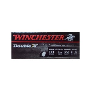 "10rds - 10 Gauge Winchester Double X 3-1/2""  2oz. #5 Shot Ammo"