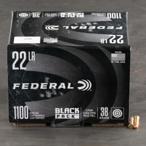 4400rds – 22 LR Federal Black Pack 38gr. CPHP Ammo