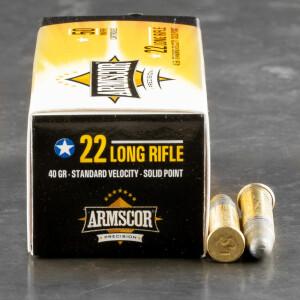 500rds – 22 LR Armscor USA 40gr. LRN Ammo