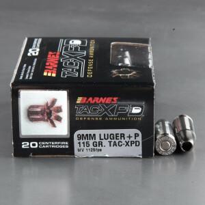 200rds – 9mm +P Barnes TAC-XPD 115gr. SCHP Ammo