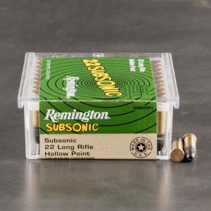 5000rds – 22 LR Remington 22 Subsonic 38gr. LHP Ammo