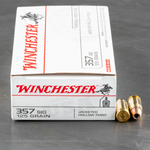 500rds - 357 Sig Winchester USA 125gr JHP Ammo