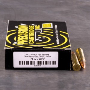20rds - 7.7 JAP Precision Cartridge Inc. 174gr. FMJ-BT Ammo