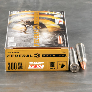 20rds – 300 Win Mag Federal 180gr. Barnes TSX Ammo
