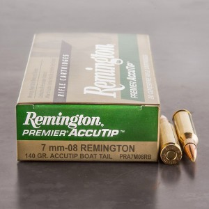 20rds - 7mm-08 Remington 140gr AccuTip Boat Tail Ammo