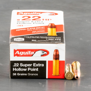 5000rds - 22LR Aguila High Velocity 38gr. Hollow Point Ammo