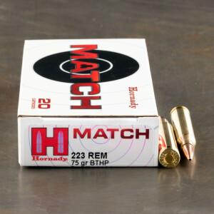20rds - 223 Hornady 75gr. Match BTHP Ammo