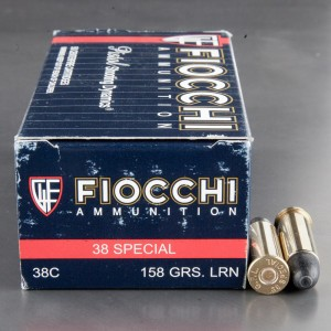 50rds - 38 Special Fiocchi 158gr. Lead Round Nose Ammo