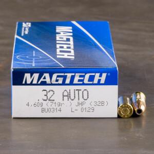 50rds - 32 ACP Magtech 71gr. JHP Ammo