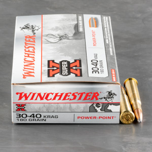 20rds - 30-40 KRAG  Winchester Super-X 180gr. Power Point Soft Point
