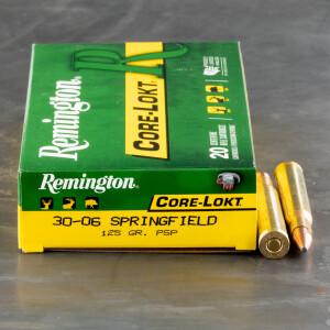 20rds – 30-06 Remington Core-Lokt 125gr. PSP Ammo