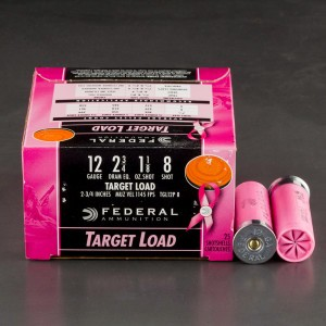 "250rds - 12 Gauge Federal Top Gun Target Load 2 3/4"" 1 1/8oz. #8 Shot Pink Hull Ammo"