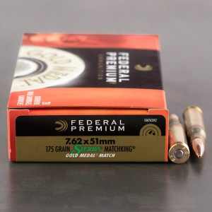 20rds - 7.62 x 51 Nato Federal Gold Medal Match 175gr. Sierra MatchKing Ammo