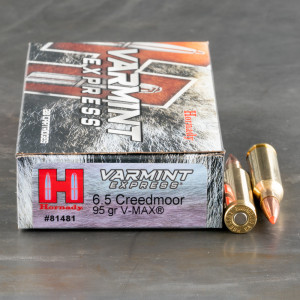 200rds – 6.5mm Creedmoor Hornady Varmint Express 95gr. V-MAX Ammo