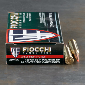 20rds – 260 Rem Fiocchi 129gr. SST Ammo