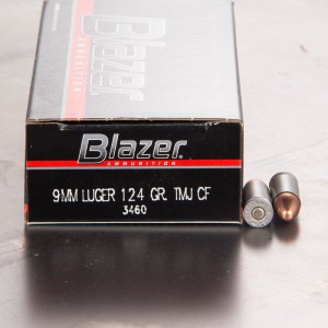 1000rds - 9mm Blazer 124gr. TMJ Clean-Fire Ammo
