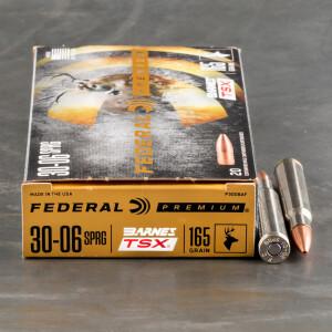 20rds – 30-06 Federal 165gr. Barnes TSX Ammo