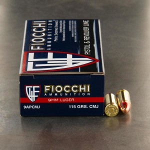 Fiocchi 9mm 115gr. CMJ - 1000 Rounds