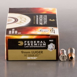 1000rds – 9mm Federal Premium Law Enforcement 147gr. HST JHP Ammo