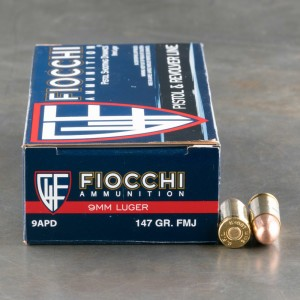 1000rds - 9mm Fiocchi 147gr FMJ Ammo