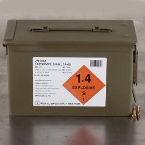 900rds – 5.56x45 Australian Defense Industries 62gr. FMJ F1 Ammo in Ammo Can