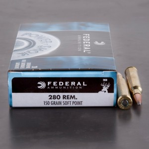 20rds - 280 Rem. Federal Power-Shok 150gr. Soft Point Ammo