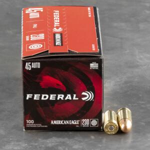 500rds - 45 ACP Federal American Eagle 230gr. FMJ Ammo