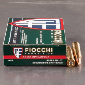 20rds - 30-06 Fiocchi 150gr. Full Metal Jacket  Boat Tail Ammo