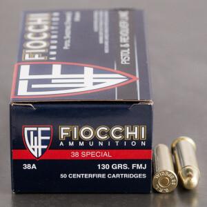 1000rds - 38 Special Fiocchi 130gr. FMJ Ammo