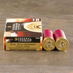 "250rds – 12 Gauge Federal Tactical LE with FliteControl Wad 2-3/4"" 00 Buck 9 Pellets Ammo"