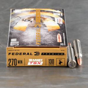20rds – 270 Win Federal 130gr. Barnes TSX Ammo