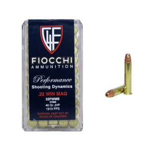 500rds - 22 Mag Fiocchi 40gr. Jacketed Hollow Point Ammo