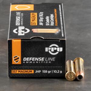 50rds – 357 Magnum Prvi Partizan 158gr. JHP Ammo