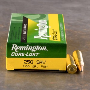 20rds - 250 Savage Remington Express Rifle 100gr. Pointed Soft Point Ammo