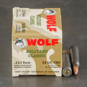 20rds - .223 WPA Military Classic 55gr. FMJ Ammo