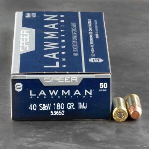 1000rds - 40 S&W Speer Lawman 180gr. TMJ Ammo