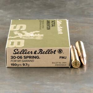 400rds – 30-06 Sellier & Bellot 150gr. FMJ M1 Garand Ammo