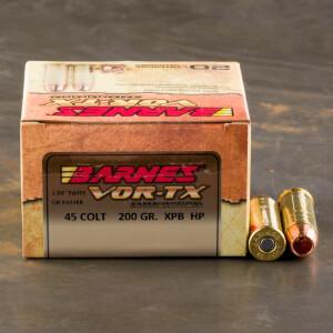 20rds - 45 Colt Barnes Vor-TX 200gr. XPB HP Ammo
