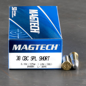 1000rds - 38 Special Short Magtech 125gr. Lead Round Nose Ammo