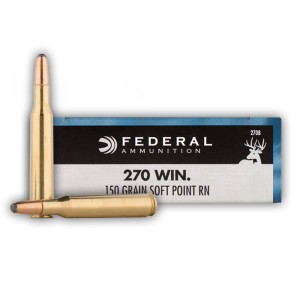 200rds - 270 Federal Power-Shok 150gr. SP Ammo