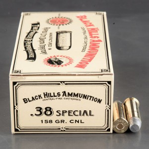 50rds - 38 Special Black Hills Cowboy Loads 158gr. CNL Ammo