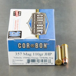 20rds - 357 Mag Corbon 110gr. HP Ammo