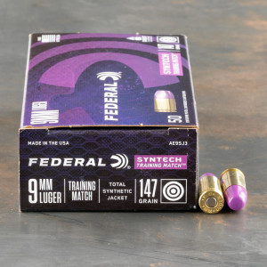 50rds – 9mm Federal Syntech Training Match 147gr. Total Synthetic Jacket FN Ammo