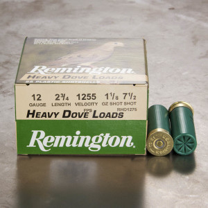 "25rds - 12 Gauge Remington Heavy Dove Loads 2 3/4"" 1 1/8oz. #7 1/2 Shot Ammo"