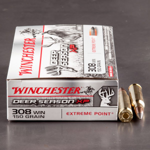 20rds – 308 Win Winchester Deer Season XP 150gr. Extreme Point Ammo