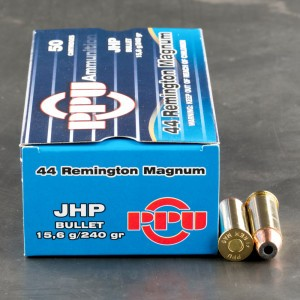 50rds - 44 Mag Prvi Partizan 240gr. JHP Ammo