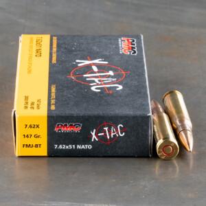 500rds - 7.62x51 PMC X-TAC 147gr. FMJBT Ammo