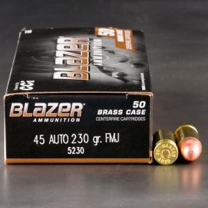 1000rds – 45 ACP Blazer Brass 230gr. FMJ Ammo